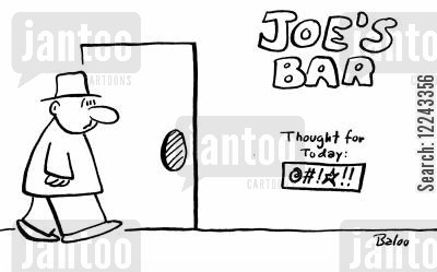 thought for the day cartoon humor: Joe's Bar - Thought for the day.