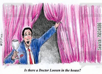 paramedics cartoon humor: 'Is there a Doctor Loosen in the house?'