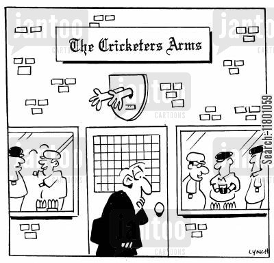 amputations cartoon humor: The Cricketer's Arms