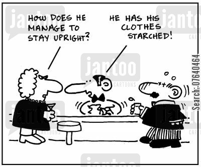 binge drinker cartoon humor: 'How does he manage to stay upright?'