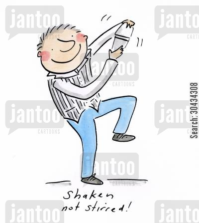 shaker cartoon humor: Shaken not stirred