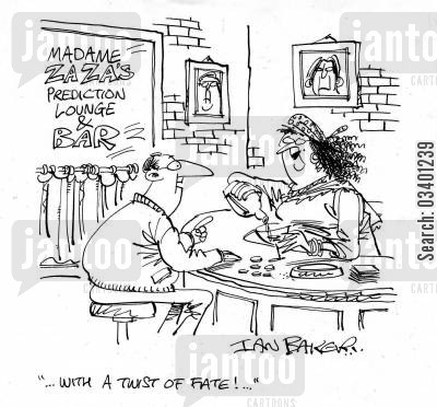 landlady cartoon humor: 'What a twist of fate!'
