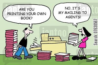 getting published cartoon humor: Are you printing your own book? No, it's my mailing to agents!