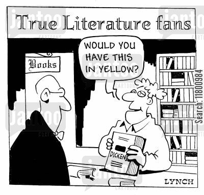 novice cartoon humor: Would you have this in yellow?