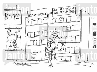 high standards cartoon humor: Self Help Section # 1