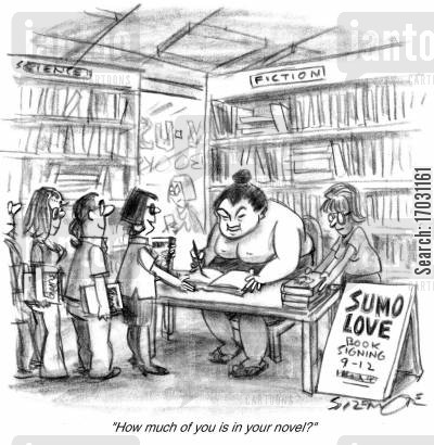 sumo wrestlers cartoon humor: Sumo Love.