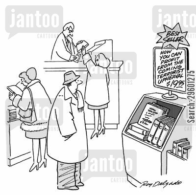 bestsellers cartoon humor: Best seller - how you can profit from the coming terrorist upheaval.