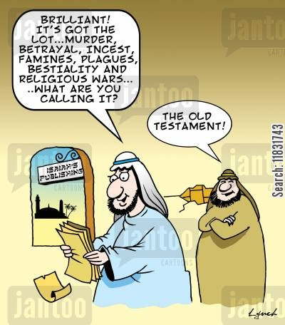 new testament cartoon humor: How the Old Testament Got Its Name.