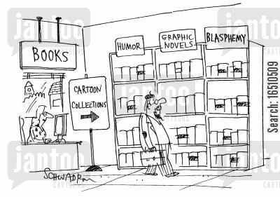 graphic novels cartoon humor: Books - Cartoon Collections: HumorGraphic NovelsBlasphemy.