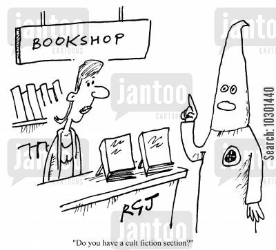 browser cartoon humor: Do you have a cult fiction section?