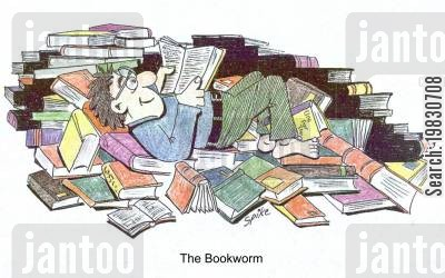 bookworms cartoon humor: Bookworm.