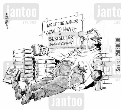 bestsellers cartoon humor: The Bestseller.