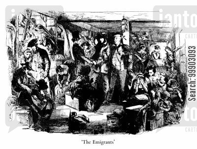 mr peggotty cartoon humor: The Emigrants
