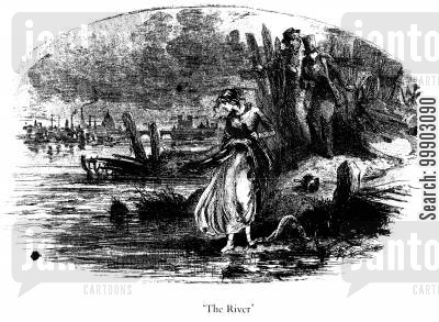 mr peggotty cartoon humor: Martha Discovered on the Bank of the River Thames by David and Mr Peggotty