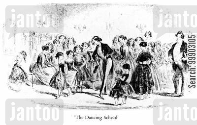 dance schools cartoon humor: Prince Turveydrop's Dancing Academy
