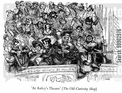 theatre audiences cartoon humor: Mr Astley's Theatre