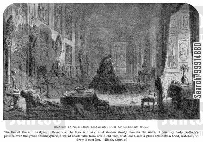 bleak house cartoon humor: Sunset in the long drawing-room at Chesney Wold
