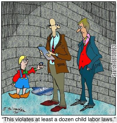 dike cartoon humor: This violates at least a dozen child labor laws.