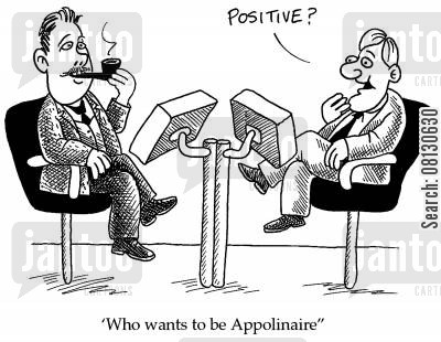appolinaire cartoon humor: Who wants to be Appolinaire?
