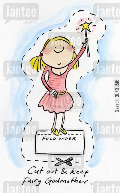 godmother cartoon humor: Cut out and keep your own Fairy Godmother.
