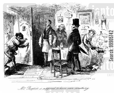 arthur clenham cartoon humor: Little Dorrit - Mr Baptist Is Supposed to Have Seen Something