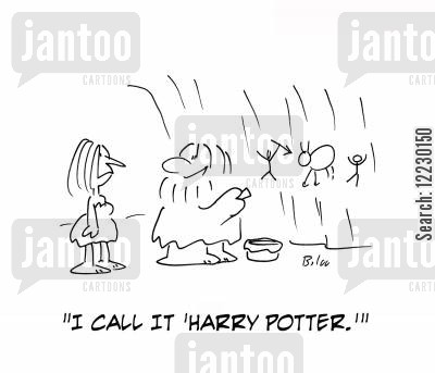 jk rowling cartoon humor: 'I call it 'Harry Potter.''