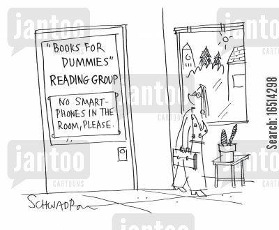 reading group cartoon humor: Reading Group.