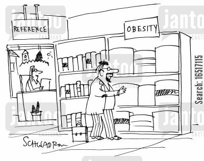fattening cartoon humor: Obesity books.
