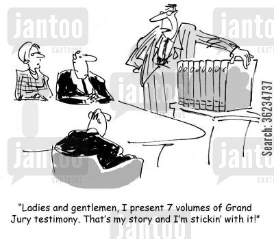 sticking to story cartoon humor: This is my story and I'm stickin with it!