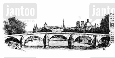 bridge cartoon humor: Trilby - Bridge in Paris.