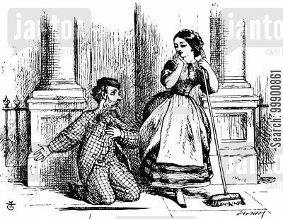 elopement cartoon humor: Victorian Courtship