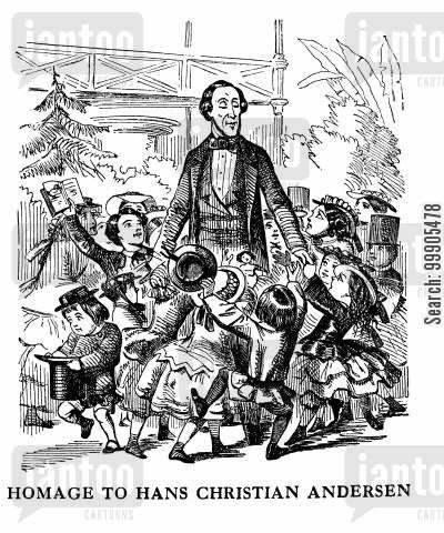 hans anderson cartoon humor: Homage to Hans Christian Andersen