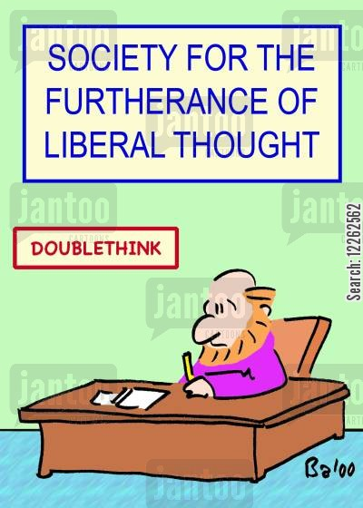 furtherance cartoon humor: Society for the Furtherance of Liberal Thought.