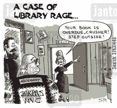 librarians cartoon humor: A Case Of Library Rage ...