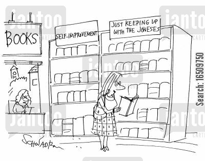joneses cartoon humor: Books: Self-Improvement Just keeping up with Joneses.