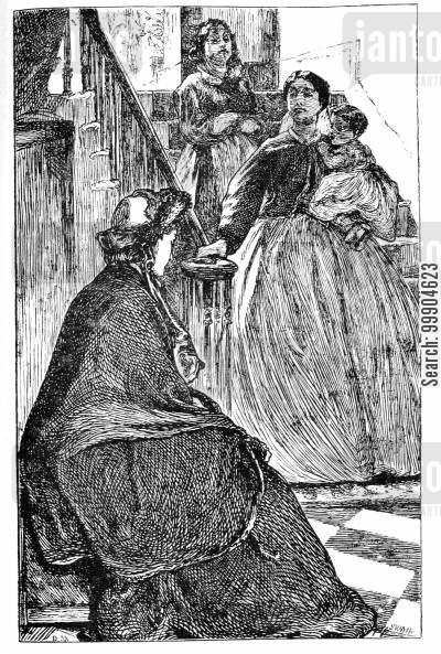 elizabeth gaskell cartoon humor: Illustration for 'A Dark Night's Work' - 'The Secret Witness'.