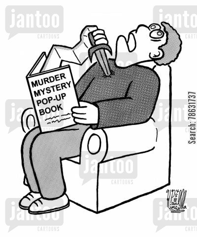 pop-up book cartoon humor: Murder Mystery Pop-Up Book
