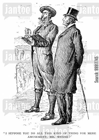 george du maurier cartoon humor: Trilby - 'I suppose you do all this kind of thing for mere amusement, Mr. Wynne?'