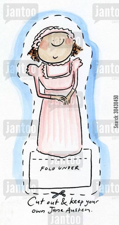 sense and sensibility cartoon humor: Cut out and keep your own Jane Austen.