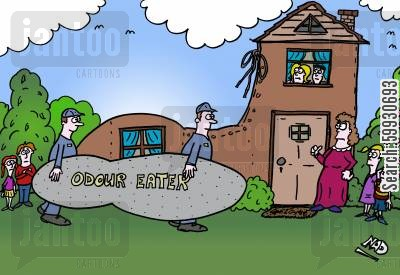 odor eaters cartoon humor: The old woman who lives in the shoe needs an odour eater to get rid of the bad smells.