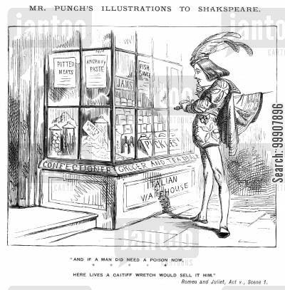 warehouses cartoon humor: Mr Punch's Illustrations to Shakspeare.