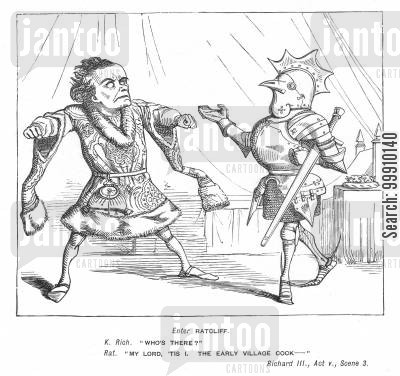 illustration cartoon humor: Mr. Punch's Illustrations to Shakspeare