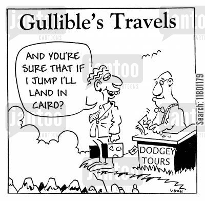 simpleton cartoon humor: Gullible's Travels