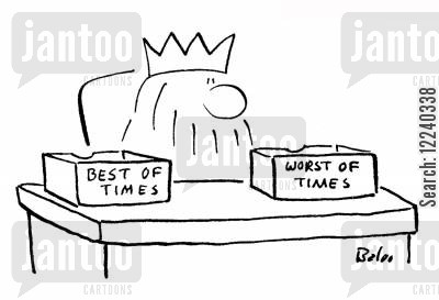 tale of two cities cartoon humor: Best of TimesWorst of Times.