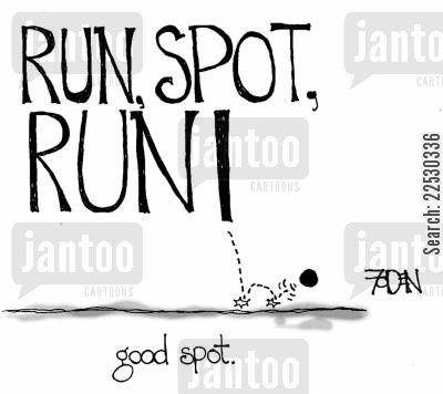 dot cartoon humor: Run, spot, run! - good spot.