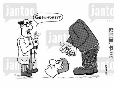 blessing cartoon humor: 'Gesundheit.'