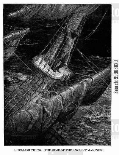 samuel coleridge cartoon humor: A Hellish Thing (The Rime of the Ancient Mariner).