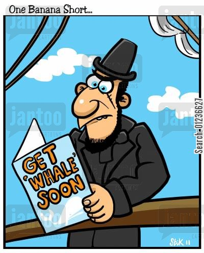 moby dick cartoon humor: Get Whale Soon