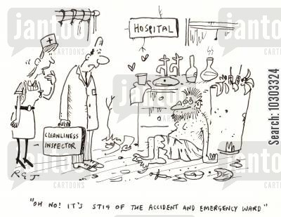 stig cartoon humor: 'Oh no! It's Stig of the accident and emergency ward!'