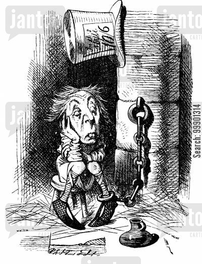 gaol cartoon humor: Through the Looking Glass-King's Messenger in Prison